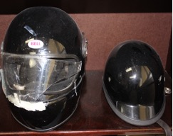 Damaged Black Helmet